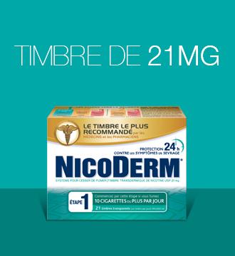 Timbre NicoDerm à 21 mg de nicotine pour l'Étape 1